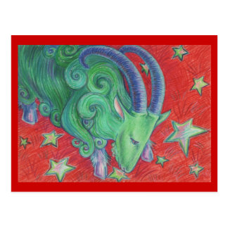 Carte postale de Capricorne de zodiaque