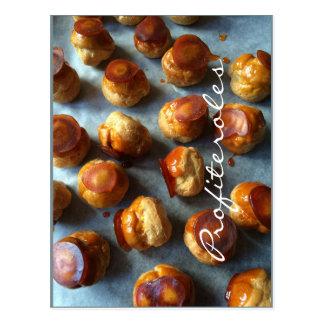 Carte postale de caramel de profiteroles