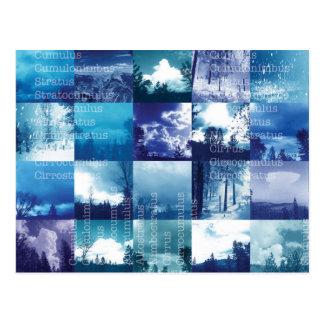Carte postale de catalogue de nuage