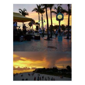 Carte postale de célébration de coucher du soleil