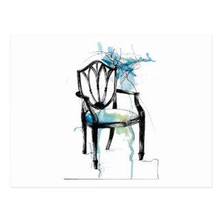 Carte postale de chaise de Hepplewhite