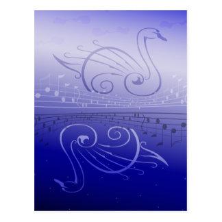 Carte postale de chanson de cygne