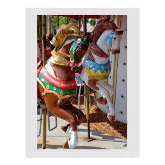 Carte postale de chevaux de carrousel