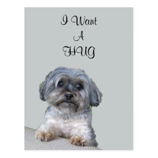 Carte postale de chien d'étreinte
