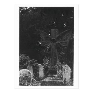 Carte postale de cimetière de statue d'ange