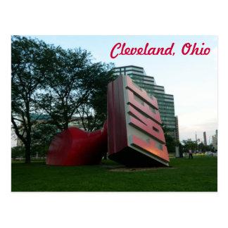 Carte postale de Cleveland (point de repère libre)