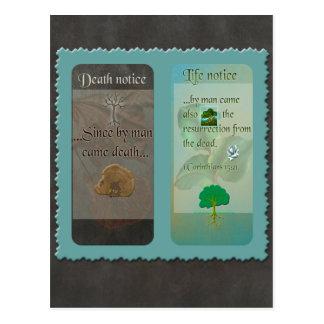 Carte postale de collage d'écriture sainte de