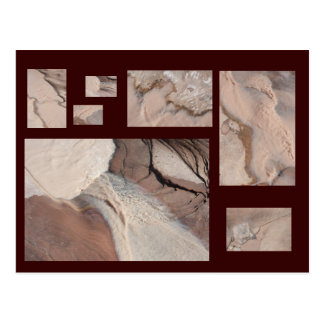 Carte postale de collage du canyon du diable