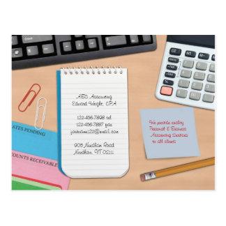 Carte postale de comptabilité