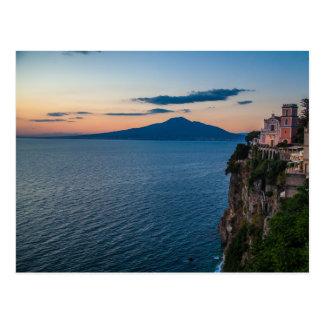 Carte postale de côte d'Amalfi