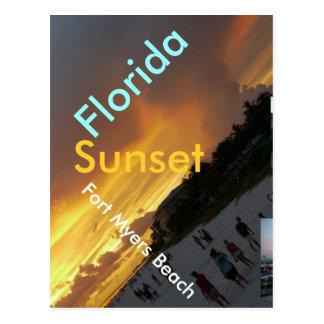 Carte postale de coucher du soleil de la Floride -
