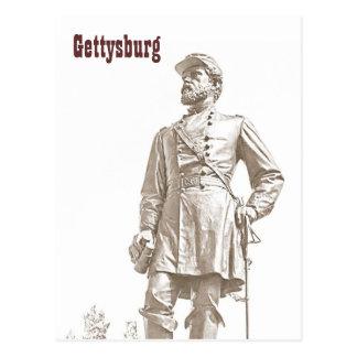 Carte postale de croquis de sépia de Gettysburg