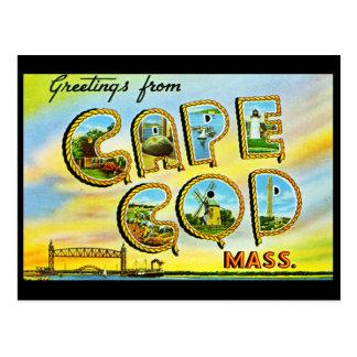 Carte postale de cru de Cape Cod le Massachusetts