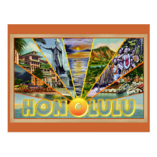 Carte postale de cru de Honolulu Hawaï