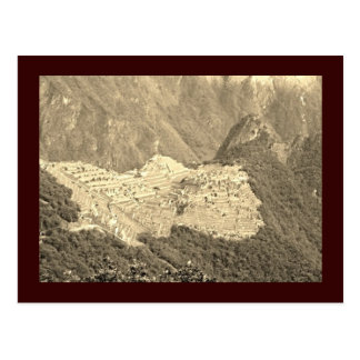 Carte postale de cru de Machu Picchu