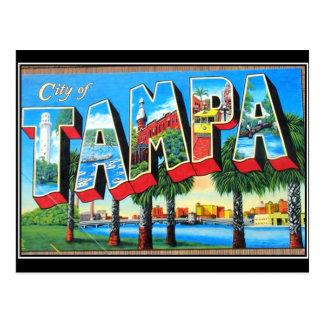 Carte postale de cru de ville de Tampa