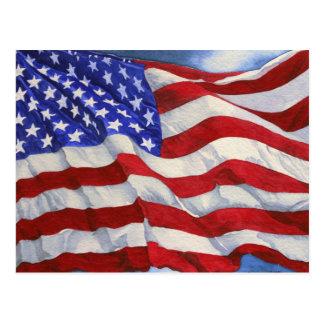Carte postale de ~ de drapeau américain