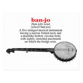 Carte postale de définition de banjo
