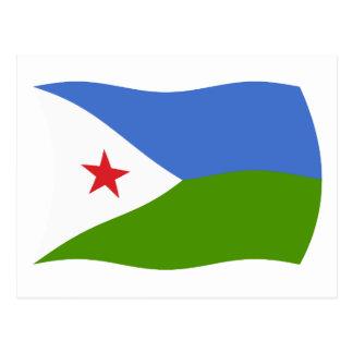 Carte postale de drapeau de Djibouti