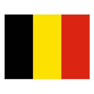 Carte postale de drapeau de la Belgique