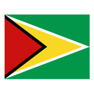 Carte postale de drapeau de la Guyane