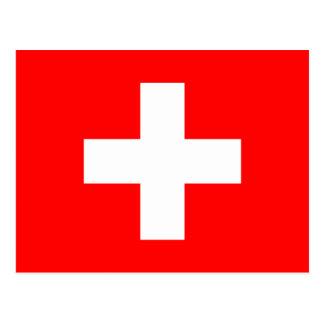Carte postale de drapeau de la Suisse