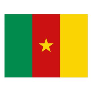 Carte postale de drapeau du Cameroun