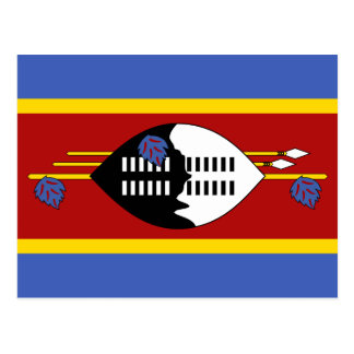 Carte postale de drapeau du Souaziland