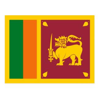 Carte postale de drapeau du Sri Lanka