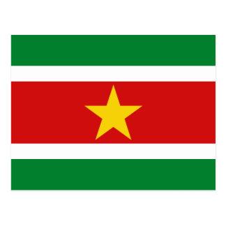 Carte postale de drapeau du Surinam