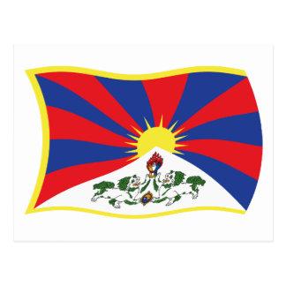 Carte postale de drapeau du Thibet