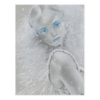 Carte postale de fée de flocon de neige