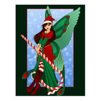 Carte postale de fée de Noël