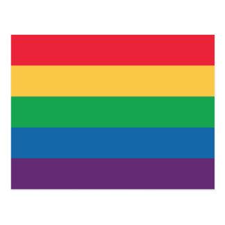 Carte postale de fierté de drapeau d'arc-en-ciel