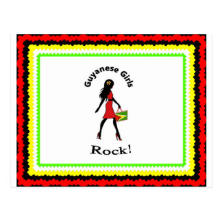 Carte postale de fille de Guyna