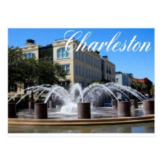Carte postale de fontaine (SC) de Charleston la