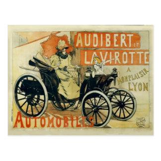 Carte postale de Français de voiture ancienne