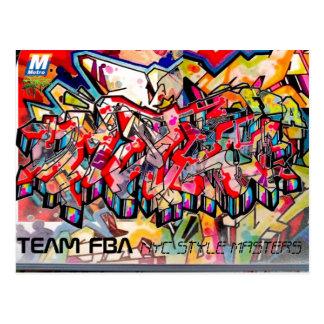 CARTE POSTALE DE GRAFFITI DE NYC