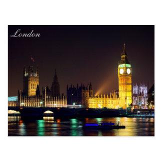 Carte postale de grand Ben de rivière de Londres