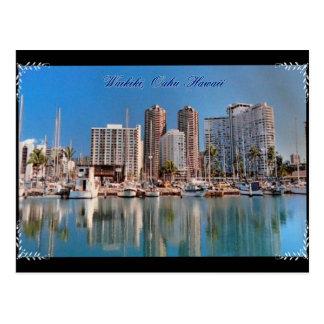 Carte postale de Hawaïen de Waikiki