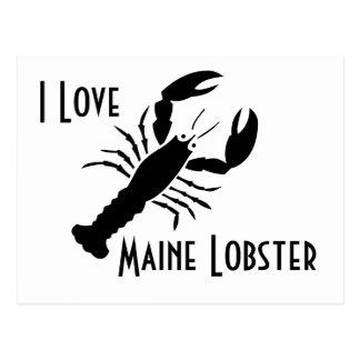 Carte postale de homard du Maine