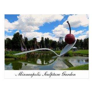 Carte postale de jardin de sculpture de