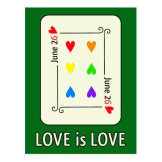 Carte postale de jour d'égalité de mariage