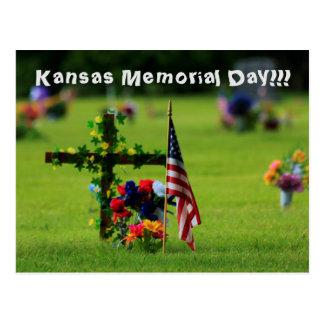 Carte postale de Jour du Souvenir du Kansas