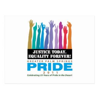 Carte Postale De justice égalité aujourd'hui pour toujours