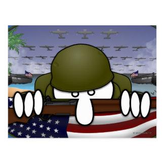 Carte postale de Kilroy de la guerre mondiale 2