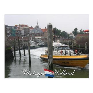 Carte postale de la Hollande de bateau pilote de