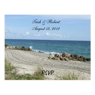 Carte postale de la plage RSVP de la Floride