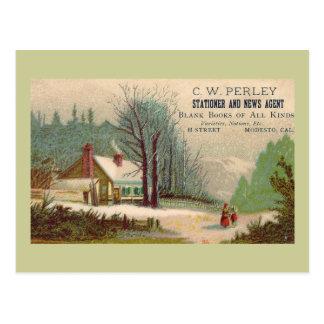 """Carte postale """"de la publicité vintage de C W"""