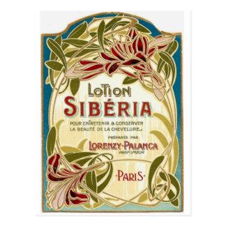 Carte postale de la Sibérie de lotion